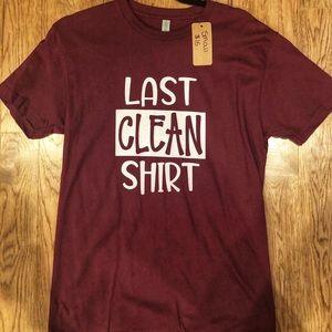 🆕 Last Clean Shirt Next Level Brand Graphic Tee